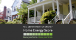 A picture of a house with the words Home Energy Score written below